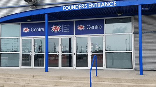 CAA Centre exterior entrance